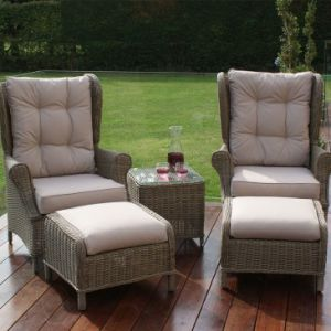 Well Furnir-Rattan Supplier Manufacturing Garden Furniture High Back 3 Piece Lounge Set pictures & photos