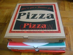 Locking Corners Pizza Box for Stability and Durability (PIZZA-451) pictures & photos
