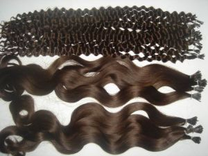 Wavy Curly Indian Remy Hair I Tip Hair Extensions pictures & photos
