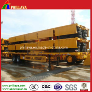 2017 Sidewall Detachable Container Bulk Cargo Loading Flat Bed Trailer pictures & photos