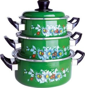 2013 Popular Enamel Casserole Set pictures & photos