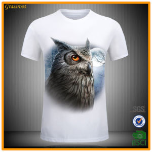 Men′s 100 Cotton Subliming Casual 3D Animal Printed T-Shirt pictures & photos