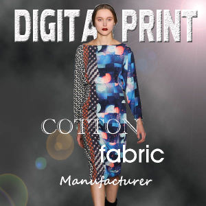 100% Digital Print Cotton Fabric for Clothing (YC006) pictures & photos
