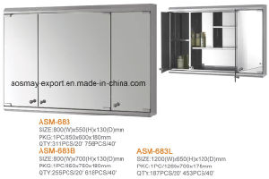 Stainless Steel Mirror Cabinet (ASM-6833D-1)