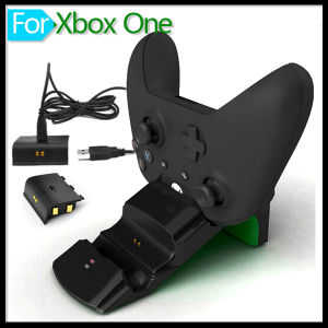 2 Gamepad Batteries & USB Charge Cable Dual Charger Dock Station for Microsoft xBox One Controller Game Accessories