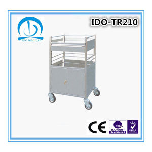 Hospital Stainless Steel Anesthesia Trolley pictures & photos
