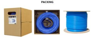 Cat5e UTP 4pairs 24AWG Pure Copper LAN Cable pictures & photos