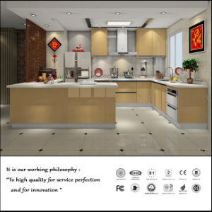 High Quality UV MDF High Glossy Kitchen Cabinet (ZH056) pictures & photos