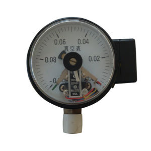 4 Inch 100mm Bottom Black Steel Case Brass Internal Vacuum Electric Contact Pressure Gauge pictures & photos