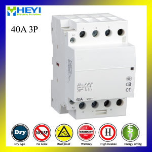 Household Electric AC Contactor 3pole 40A pictures & photos