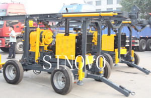 Mechanical Spindle Trailer Type High Rotating Core Drilling Rig pictures & photos