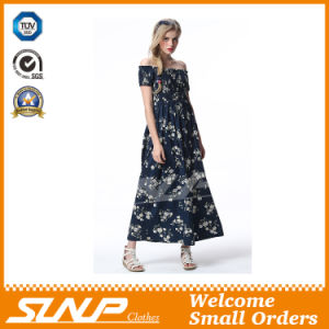 High Quality Export Printing Flower Ladies Dress