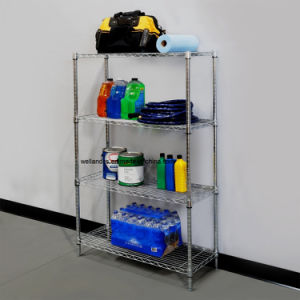 Garage Tools Storage 4-Tier NSF Chrome Steel Wire Shelving pictures & photos