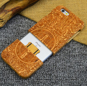 High-End Luxury Custom Real Wood Mobile Phone Cover Case for iPhone 6/6s Sakuragi Laser Engrave Cell Phone Case pictures & photos