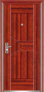 Top Quality Economic Single Steel Doors (EF-S025) pictures & photos