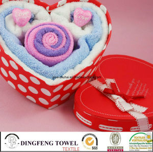 Hot Sales Design Promotion Cake Gift Towel Sets Df-2875 pictures & photos