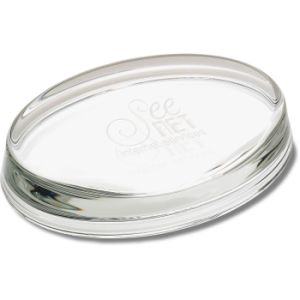 Oval Crystal Paperweight for Wedding Gift