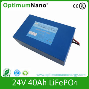 Deep Cycle LiFePO4 Battery 24V Lithium Battery Pack pictures & photos