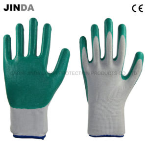 Nitrile Coated Industrial Labor Protective Gloves Safety (NS007) pictures & photos