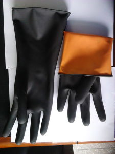 120g Work Safe Double Color Latex Industrial Glove pictures & photos