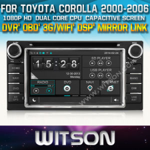 Car Radio Navigation for Toyota Corolla (W2-D8158T) Front DVR Capactive Screen OBD 3G WiFi Bluetooth RDS pictures & photos