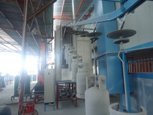 LPG Tank Automatic Powder Coating Line pictures & photos