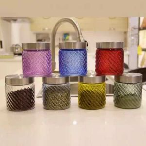 Glass Jar Glass Bottle with Metal Lid Honey Jam Container pictures & photos