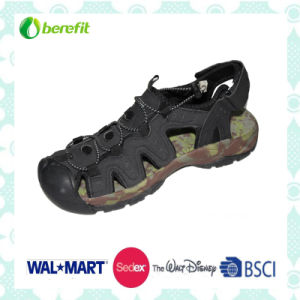Black PU Upper with Good Design, Men′s Sporty Sandals pictures & photos