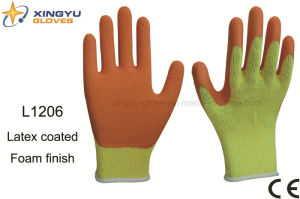 10g T/C Shell Latex Foam Coated Safety Work Glove (L1206) pictures & photos