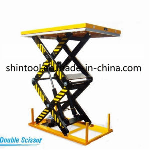 1 Ton Stationary Lift Table Dgs1001 (Customizable) pictures & photos