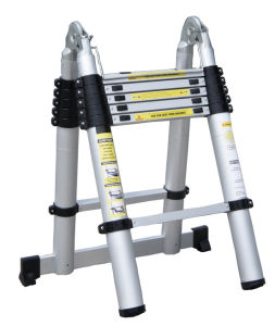 Aluminum Telescopic Ladder with En131 Certificate pictures & photos
