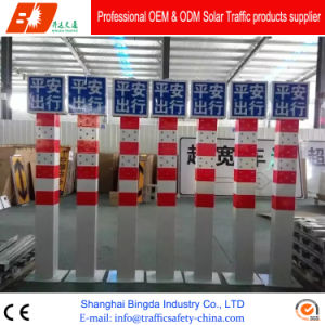 Solar Supply Iron Shell Outdoor Traffic Safety Warning Post Bollard pictures & photos