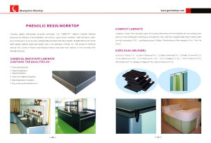 Hospital/School Lab Furniture, Phenolic Resin Worktop Phenolic Resin Phenolic Worktop