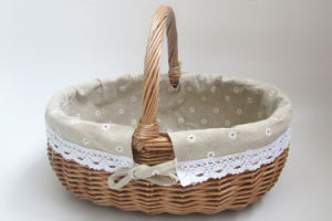 Eco-Friendly Portable Wicker Fruit Basket pictures & photos
