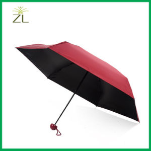Promotion Fashion Ladies Gift Bag Size Packet Compact Aluminium Small 5 Fold Super Mini Umbrella in Case pictures & photos
