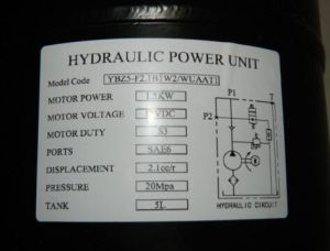 24VDC Single Acting Hydraulic Power Pack with 8L Tank pictures & photos