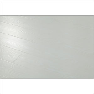 White Color Eir AC4 Laminate Flooring with V-Groove pictures & photos