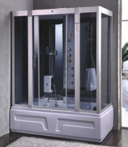 Grey Tempered Glass Shower Cabin (9005)