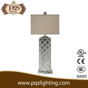 Silver Mirror Table Lamp Modern Style Light for Bedroom