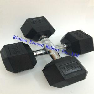 Fitness Equipment Gym Equipment of Rubber Hex Dumbbell