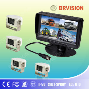 7′ Color Quad TFT LCD Monitor with Night Vision Camera pictures & photos