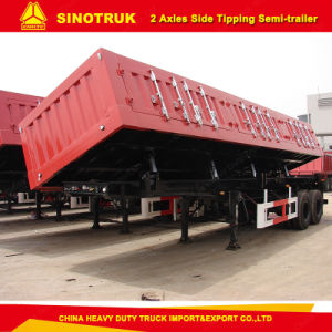 2 Axle Side Dump/Tipper Semi Trailer for Sale pictures & photos