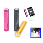 3000mAh 5V Mobile Power Bank with LED Torch