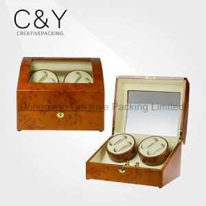 High Quality Four Watches Quad Watch Winder with Leather Lining pictures & photos