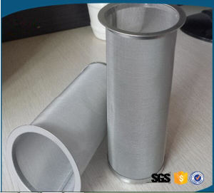 Customized 100 150 300 Micron Stainless Steel Mesh Cylinder Filter pictures & photos