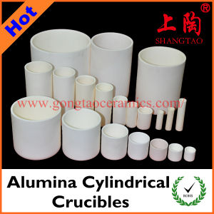 Various Size & Material Alumina Cylindrical Crucibles pictures & photos