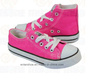 Pink Vulcanized Kids Canvas Sneaker (ET-MY170413K) pictures & photos