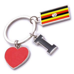New Custom Metal Souvenir Uganda Keyring pictures & photos