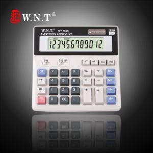 12 Digits Dual Power Desktop Calculator with Solar Power