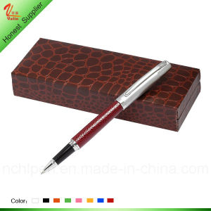 New Design Leather Outwards Metal Pen pictures & photos